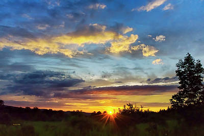 Photograph - Colorful Sunset Landscape by Christina Rollo