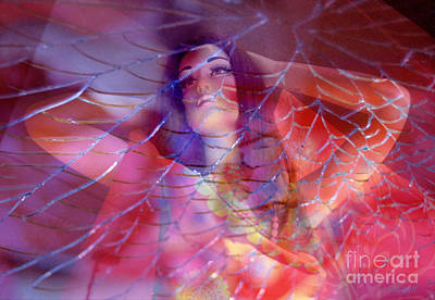 colorful surreal woman mannequin photography - Desdemona Art Print