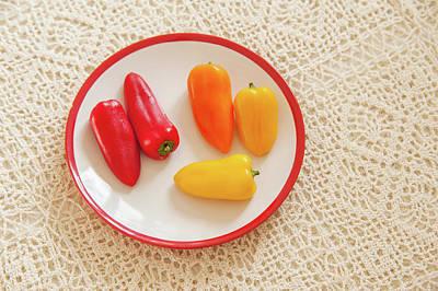 Photograph - Colorful Sweet Paprika by Jenny Rainbow