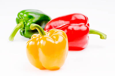 Food And Beverage Royalty-Free and Rights-Managed Images - Colorful Sweet Peppers by Setsiri Silapasuwanchai
