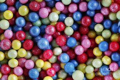 Snack Photograph - Colorful Sweet Sugar Pearls Decoration Close-up Background by Michal Bednarek