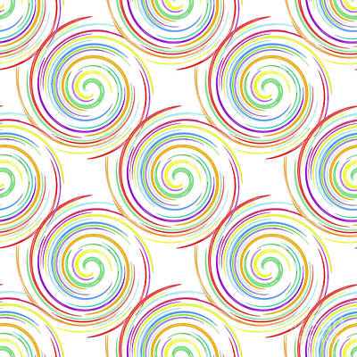 Digital Art - Colorful Swirls by Diane Macdonald