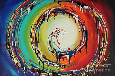 Painting - Colorful Swirls by Preethi Mathialagan