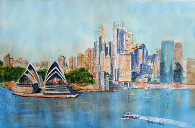Painting - Colorful Sydney Harbor by Debbie Lewis