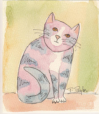 Painting - Colorful Tabby by Terry Taylor