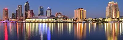 Photograph - Colorful Tampa Panorama by Frozen in Time Fine Art Photography