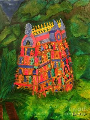 Painting - Colorful Temple Gopuram by Brindha Naveen