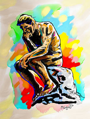 Colorful Thinker Art Print