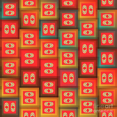 Colorful Tiles Art Print