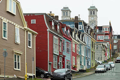 Photograph - Colorful Townhouses On Victoria Street In St.john's, Newfoundland by Les Palenik