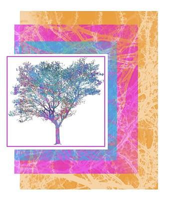 Digital Art - Colorful Tree by Cecilia Swatton