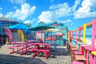 Photograph - Colorful Tropical Bahamas Bar And Grill by Catherine Sherman