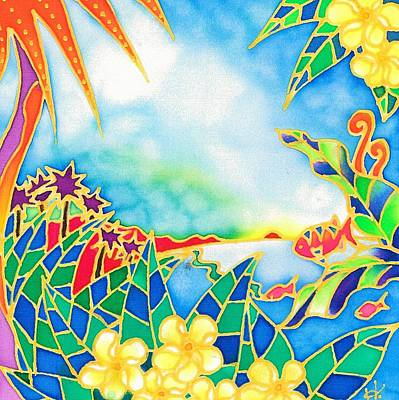 Painting - Colorful Tropics 1 by Hisayo Ohta