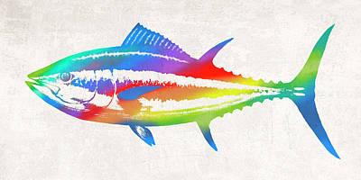 Wall Art - Digital Art - Colorful Tuna by Guy Crittenden