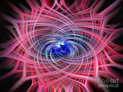 Photograph - Colorful Twirling Vortex by Sue Melvin