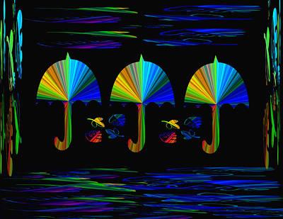 Digital Art - Colorful Umbrellas by Aimee L Maher Photography and Art Visit ALMGallerydotcom