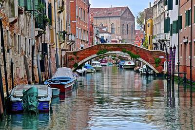 Colorful Venice Canal Art Print by Frozen in Time Fine Art Photography