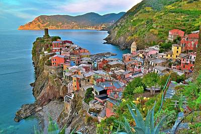 Photograph - Colorful Vernazza From Behind by Frozen in Time Fine Art Photography