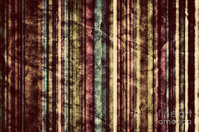 Vertical Photograph - Colorful Vertical Stripes Background In Vintage Retro Style  by Michal Bednarek