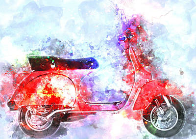 Colorful Vespa 2 - By Diana Van Art Print