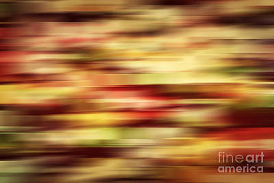 Lines Photograph - Colorful Vintage Motion Blur Abstract Background by Michal Bednarek