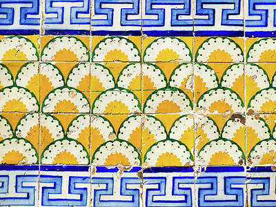 Photograph - Colorful Vintage Portuguese Tiles by Helissa Grundemann