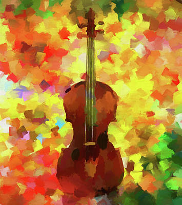 Painting - Colorful Violin by Dan Sproul