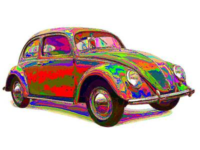 Painting - Colorful Volkswagen by Samuel Majcen