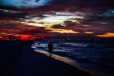 Photograph - Colorful Walk At The Pier by Michael Thomas