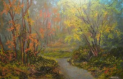 Painting - Colorful Walk  by Michael Mrozik