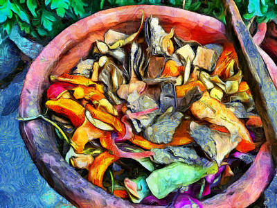 Wilderness Camping - Colorful waste ready for composting by Ashish Agarwal