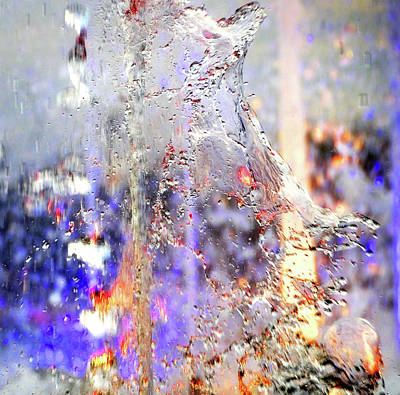 Photograph - Colorful Water Abstract by Jenny Rainbow