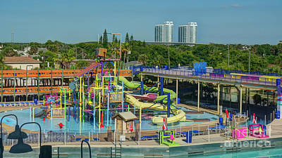 Photograph - Colorful Water Park by Ules Barnwell