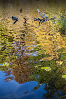 Photograph - Colorful Water Reflections In Autumn by Randall Nyhof