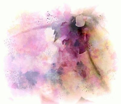Photograph - Colorful Watercolor Flower Abstract by Renee Trenholm