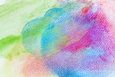 Wallpaper Photograph - Colorful Watercolor Paint On Canvas. Super High Resolution And Quality Background by Michal Bednarek