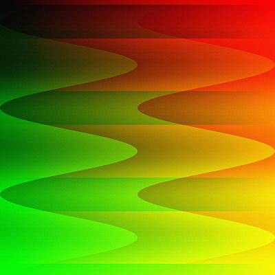 Art Print featuring the digital art Colorful Waves by Kathleen Sartoris
