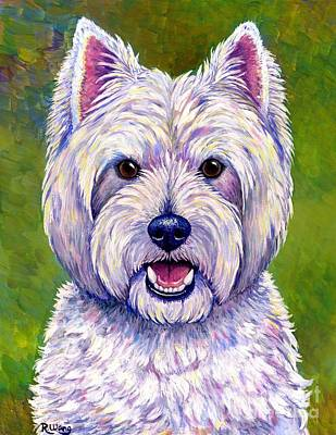 Colorful West Highland White Terrier Dog Art Print