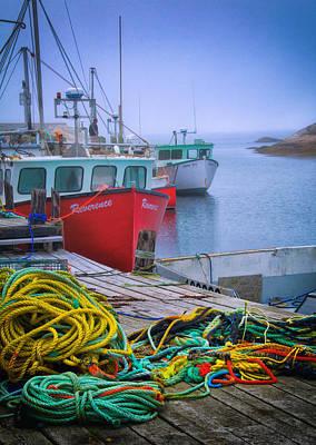 Photograph - Colorful Wharf by Carolyn Derstine