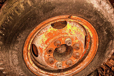 Photograph - Colorful Wheel With Tire by Douglas Barnett