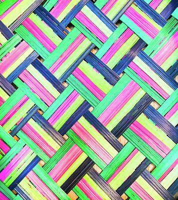 Handcrafted Photograph - Colorful Wicker by Tom Gowanlock