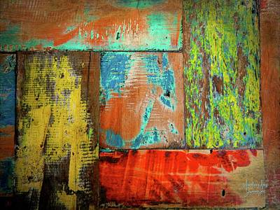 Photograph - Colorful Wood by Jamie Johnson