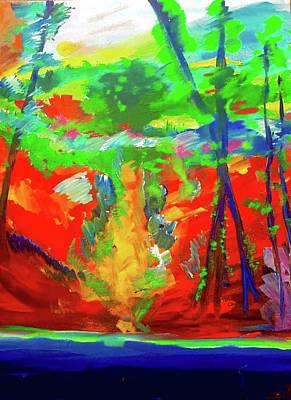 Painting - Colorful Woods 2 by Lilliana Didovic