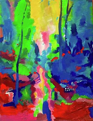 Painting - Colorful Woods by Lilliana Didovic
