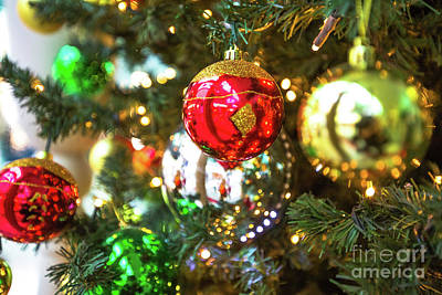 Photograph - Colorful Xmas Balls by Benny Marty