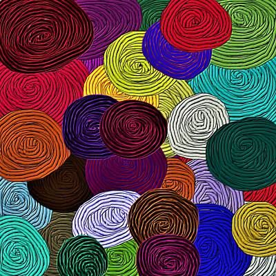 Mixed Media - Colorful Yarn Art by Barbara Chichester