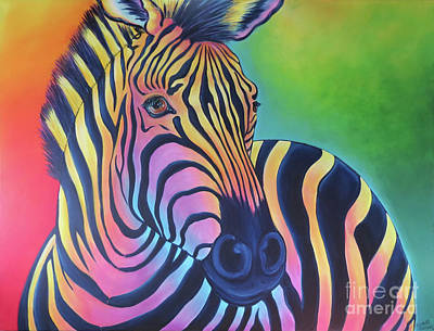 Painting - Colorful Zebra by Elisabeth Sullivan