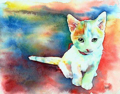 Painting - Colorfull Kitty by Christy Freeman Stark