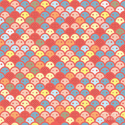 Colorfull Potatos Pattern Art Print by Ace Of Spades