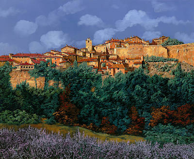 Jacob Kuch Vintage Art On Dictionary Paper - colori di Provenza by Guido Borelli